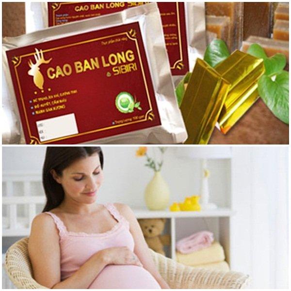 Phụ nữ mang thai cũng có thể dùng cao ban long để bồi bổ